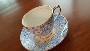 Vintage Rosina Tea Cup And Saucer Bone China Made In England 4876c