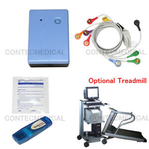 Contec8000s Wireless Stress Ecg Event Recorder Machine Software Analysis System