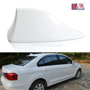 Car White Vehicle Shark Fin Roof Antenna Aerial Fm Am Radio Signal Accessory