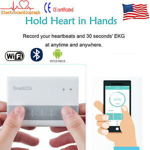 Snapecg Portable Ecg ekg Machine Cardiac Monitor Electrocardiogram Mobile App