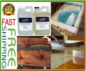 Crystal Clear Table Top Epoxy Resin Gallon Kit Coating Bars Countertops