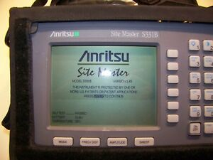 Nice Anritsu S331b Opt 5 Site Master W new Screen battery charger Full Test