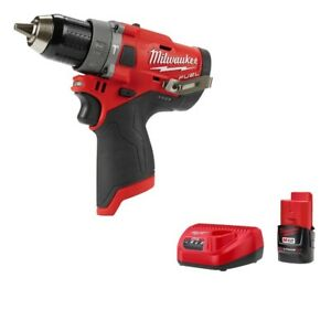 Milwaukee 2504 20 M12 Fuel Brushless 1 2 In Hammer Drill Gen 2 W Battery