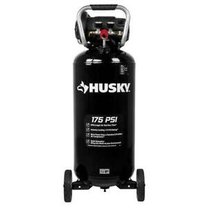 Husky Quiet Portable Air Compressor 20 Gal 175 Psi Wheels Pump Spray Painting