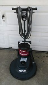 Minuteman Pams 1500 Rpm 20 Inch High Speed Floor Buffer With Dust Control