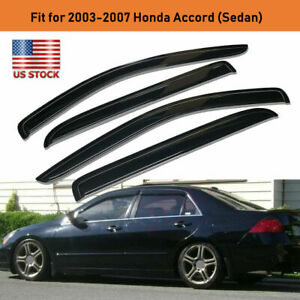 Vent Window Visor For Honda Accord 2003 2004 2005 2006 2007 4 Door Lx Ex Sedan