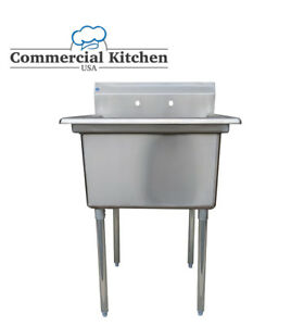 Stainless Steel Utility Sink For Commercial Kitchen 23 5 Wide Free Shipping