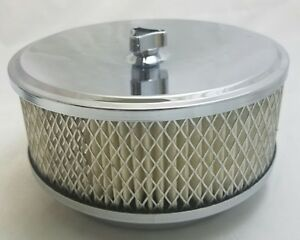 Chrome 6 3 8 Air Cleaner Fits 4 Barrel 5 1 8 4 7 32 Neck Comes With Filter