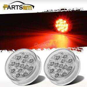 2x 2 5 Clear Red Led Marker Clearance Light Trailer Lights Bumpers Light 13led