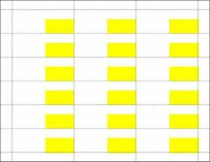 Printable Price Tags 3 25 X 1 25 Yellow white 1800 Piece Lot