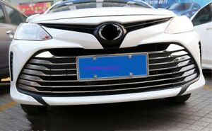 Stainless Steel Front Cente Grilles Grille Coves Trim For Toyota Vios 2017 2018