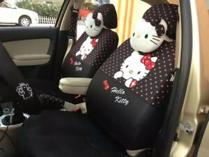 Hello Kitty Car Universal Full Seat Covers 18pcs Interior Accessories