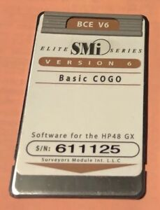Smi Bce V6 Surveying Card Manual For Hp 48gx Calculator