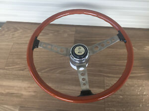 1967 Shelby Gt350 Gt500 Steering Wheel Real Wood S7ms 3600 Fastback 1076
