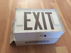 Exitronix Led Red Exit Sign With Battery