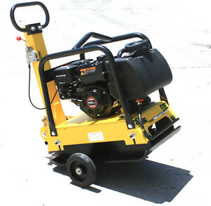 6 5hp Gas Power Walk Behind Vibratory Dirt Plate Compactor Rammer Driveway Paver