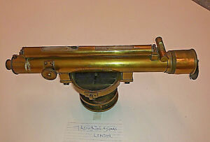 Vintage Surveyor Transit Level Made By Troughton Simms London