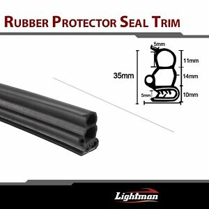 240 Rubber Seal Door Edge Guard Weather Stripping Decorative Auto Parts Black