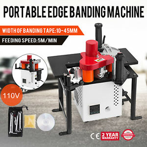 Woodworking Portable Edge Banding Machine 5m min Stability 15w Motor Wholesale
