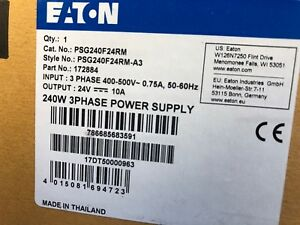 New Eaton Psg240f24rm Power Supply Dc 24v 10a
