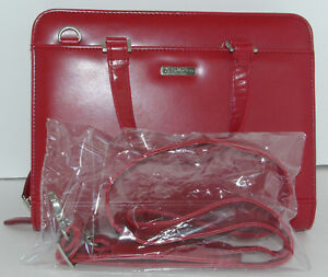 Franklin Covey Organizer Red Zippered Binder Handles Strap