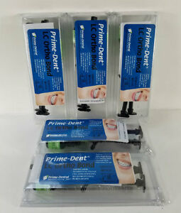 5 Pack Prime dent Light Cure Orthodontic Adhesive Bonding System Kit X 2x5g Syr
