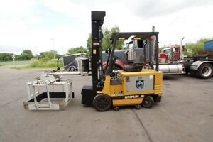 Caterpillar 5000 Lb Capacity 2 Stage Electric Forklift W Cascade Layer Picker