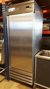 Used Commercial Refrigerator Avantco Single Stainless 1 Door Cooler Restaurant