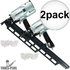Hitachi Nr83a5 3 1 4 Round Head Plastic Collated Framing Nailer 2x New