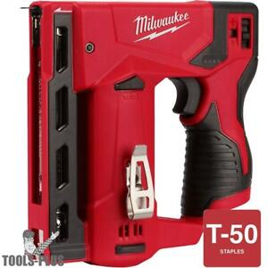 Milwaukee 2447 20 M12 3 8 Cordless Crown Stapler tool Only New