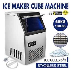 Us 150lbs Built in Commercial Ice Maker Undercounter Freestand Ice Cube Machine
