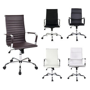 Ergonomic High Back Office Chair Pu Leather Executive Computer Desk Task Seat