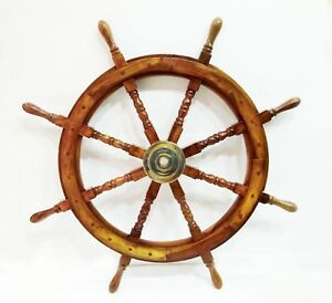 Boat Ships Captains Vintage Ship Wheel 36 Wooden Decorative Wall Hanging Decor
