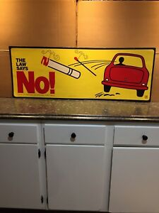 Dept Of Agriculture The Law Says No Smoking Poster Sign C1975 Vintage Rare