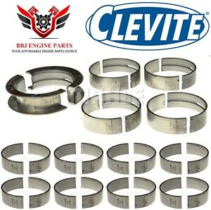 Ford 351 351c Cleveland Clevite Rod And Main Bearings Set 1970 1974