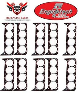 10 Enginetech Chevy Sbc 283 302 307 327 350 5 7l Head Gaskets 1957 2002