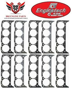 10 Chevy Chevrolet 265 283 307 327 350 Sbc Enginetech Graphite Head Gaskets