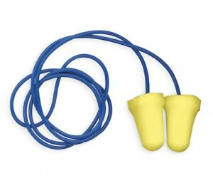 3m Corded Ear Plugs 312 1222 28db Rated Disposable Bell Shape 200 Prs