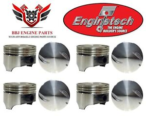8 Gm Chevy Chevrolet 454 7 4l Bbc Flat Top Pistons 1970 1983