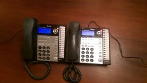 At t 1070 4 line Phones Small Business System lot Of 2