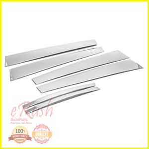 For 2009 2016 Chevy Cruze Chrome B pillar 6pcs Pillar Post Stainless Steel Trims
