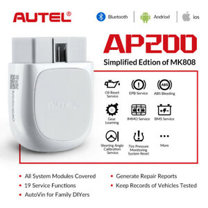 Autel Maxiap Ap200 Obd2diagnostic Obdii Scanner Tool Code Reader For Android Ios