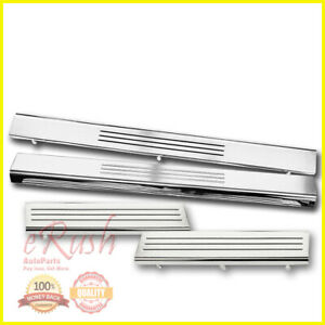 For 2009 2017 Dodge Ram Crew Cab Scuff Plate Door Sill Sills Stainless Steel 4ps