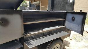 Rib Master Street Vendor Mobile Kitchen Bbq Smoker 36 Grill Trailer Food Truck