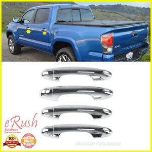 For 2016 2019 Toyota Tacoma Highlander 8pcs Chrome Door Handle Set With Smk Drs