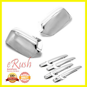For Ford Fusion Lincoln Mkz Mercury Milan Chrome Side Mirror Door Handle Covers