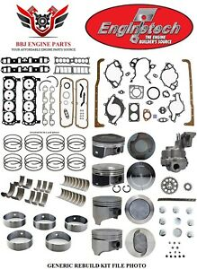 Enginetech Chevy Sbc 350 5 7 Master Overhaul Rebuild Kit With Pistons 1968 1985