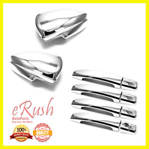 For 2009 2015 Chevrolet Cruze Chrome Side Mirror Door Handle Covers Combo Deal