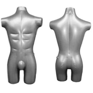 Inflatable Male Half Body Mannequin Torso Dress Form Dummy Model Display