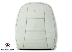 1999 2004 Ford Mustang V6 driver Side Lean Back Leather Seat Cover White